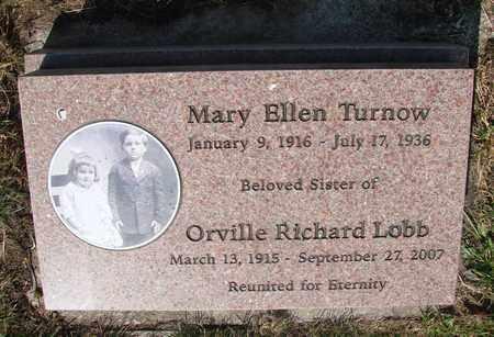LOBB, MARY ELLEN - Tillamook County, Oregon | MARY ELLEN LOBB - Oregon Gravestone Photos