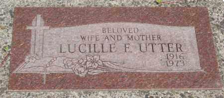 UTTER, LUCILLE FRANCES - Tillamook County, Oregon | LUCILLE FRANCES UTTER - Oregon Gravestone Photos