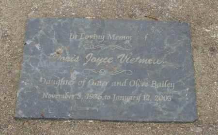 BAILEY, DORIS JOYCE - Tillamook County, Oregon   DORIS JOYCE BAILEY - Oregon Gravestone Photos