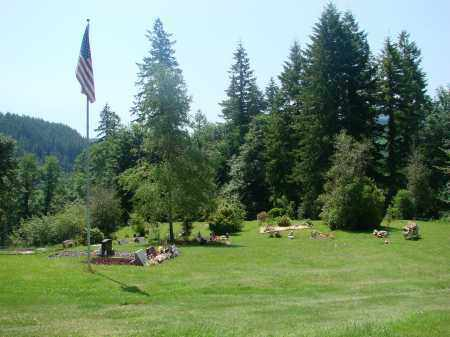 VIEW, BLAINE CEMETERY - Tillamook County, Oregon | BLAINE CEMETERY VIEW - Oregon Gravestone Photos
