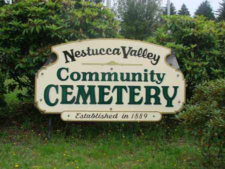 VIEW, NESTUCCA VALLEY COMUNITY CEMETERY SIGN - Tillamook County, Oregon | NESTUCCA VALLEY COMUNITY CEMETERY SIGN VIEW - Oregon Gravestone Photos
