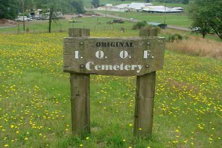 VIEW, ORIGINAL IOOF CEMETERY SIGN - Tillamook County, Oregon | ORIGINAL IOOF CEMETERY SIGN VIEW - Oregon Gravestone Photos