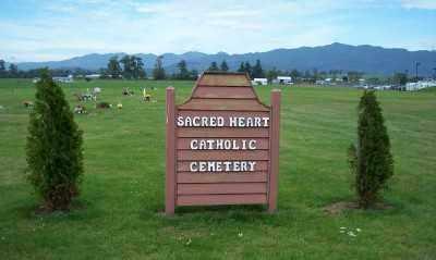 VIEW, CEMETERY SIGN - Tillamook County, Oregon | CEMETERY SIGN VIEW - Oregon Gravestone Photos