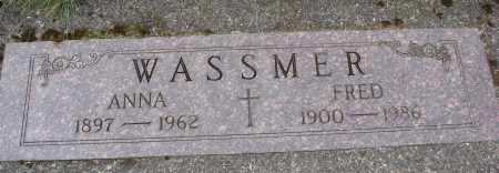 WASSMER, FRED - Tillamook County, Oregon   FRED WASSMER - Oregon Gravestone Photos