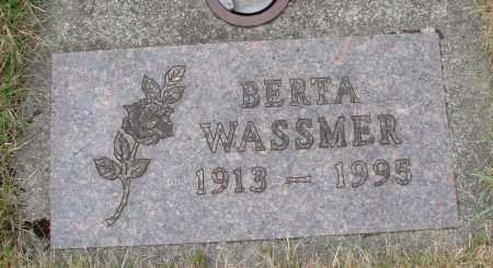 WASSMER, BERTA - Tillamook County, Oregon | BERTA WASSMER - Oregon Gravestone Photos