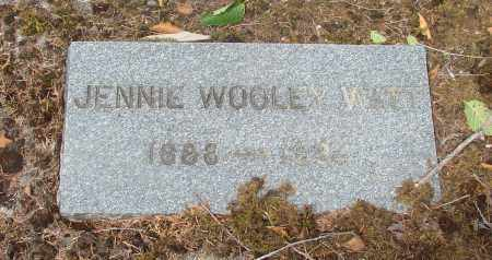 WOOLEY WATT, JENNIE - Tillamook County, Oregon   JENNIE WOOLEY WATT - Oregon Gravestone Photos
