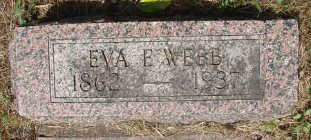 WEBB, EVA F - Tillamook County, Oregon | EVA F WEBB - Oregon Gravestone Photos