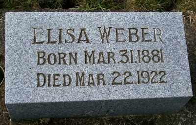 WEBER, ELISA - Tillamook County, Oregon | ELISA WEBER - Oregon Gravestone Photos