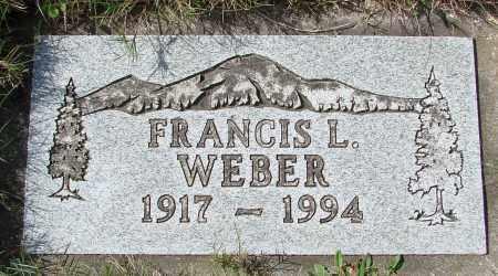 WEBER, FRANCIS L - Tillamook County, Oregon | FRANCIS L WEBER - Oregon Gravestone Photos