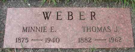 WEBER, MINNIE E - Tillamook County, Oregon | MINNIE E WEBER - Oregon Gravestone Photos
