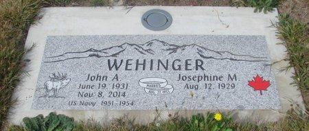 WEHINGER, JOSEPHINE M - Tillamook County, Oregon | JOSEPHINE M WEHINGER - Oregon Gravestone Photos