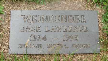 WEINBENDER, JACK LAWRENCE - Tillamook County, Oregon | JACK LAWRENCE WEINBENDER - Oregon Gravestone Photos