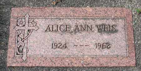 WEIS, ALICE ANN - Tillamook County, Oregon | ALICE ANN WEIS - Oregon Gravestone Photos