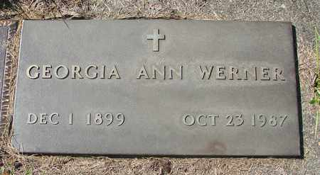 WERNER, GEORGIA ANN - Tillamook County, Oregon | GEORGIA ANN WERNER - Oregon Gravestone Photos