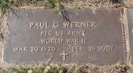 WERNER, PAUL G - Tillamook County, Oregon   PAUL G WERNER - Oregon Gravestone Photos