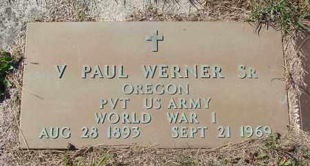 WERNER, V PAUL SR - Tillamook County, Oregon | V PAUL SR WERNER - Oregon Gravestone Photos