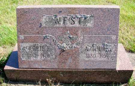 WEST, CARRIE E - Tillamook County, Oregon | CARRIE E WEST - Oregon Gravestone Photos