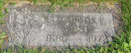 WEST, ELIZABETH P - Tillamook County, Oregon | ELIZABETH P WEST - Oregon Gravestone Photos