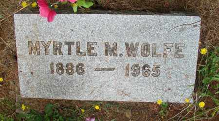 WOLFE, MYRTLE M - Tillamook County, Oregon | MYRTLE M WOLFE - Oregon Gravestone Photos
