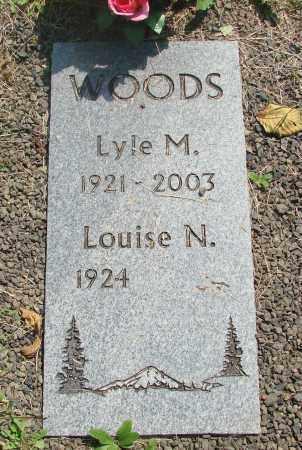 WOODS, LYLE M - Tillamook County, Oregon | LYLE M WOODS - Oregon Gravestone Photos