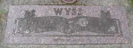 WYSS, DONALD A - Tillamook County, Oregon | DONALD A WYSS - Oregon Gravestone Photos