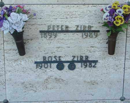 ZIRR, ROSE - Tillamook County, Oregon   ROSE ZIRR - Oregon Gravestone Photos