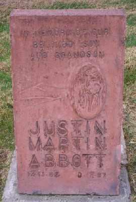 ABBOTT, JUSTIN MARTIN - Umatilla County, Oregon | JUSTIN MARTIN ABBOTT - Oregon Gravestone Photos