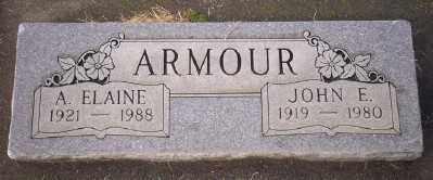 ARMOUR, A ELAINE - Umatilla County, Oregon | A ELAINE ARMOUR - Oregon Gravestone Photos