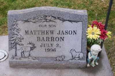 BARRON, MATTHEW JASON - Umatilla County, Oregon | MATTHEW JASON BARRON - Oregon Gravestone Photos