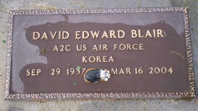 BLAIR, DAVID EDWARD - Umatilla County, Oregon   DAVID EDWARD BLAIR - Oregon Gravestone Photos