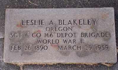 BLAKELEY (WWI), LESLIE A - Umatilla County, Oregon | LESLIE A BLAKELEY (WWI) - Oregon Gravestone Photos