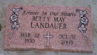 LANDAUER, BETTY MAY - Umatilla County, Oregon | BETTY MAY LANDAUER - Oregon Gravestone Photos