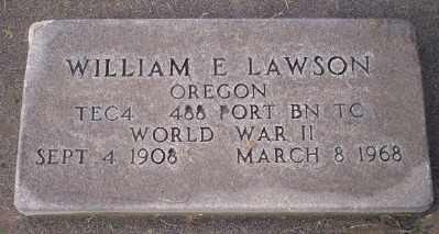 LAWSON, WILLIAM E - Umatilla County, Oregon | WILLIAM E LAWSON - Oregon Gravestone Photos