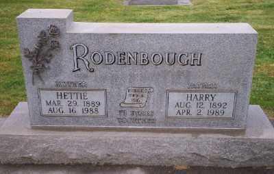MILLER RODENBAUGH, HETTIE - Umatilla County, Oregon   HETTIE MILLER RODENBAUGH - Oregon Gravestone Photos