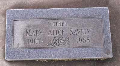 SAVELY, MARY ALICE - Umatilla County, Oregon | MARY ALICE SAVELY - Oregon Gravestone Photos