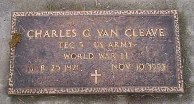 VAN CLEAVE, CHARLES G - Umatilla County, Oregon   CHARLES G VAN CLEAVE - Oregon Gravestone Photos