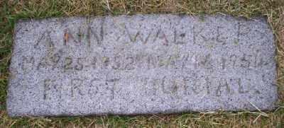 WALKER, ANN - Umatilla County, Oregon   ANN WALKER - Oregon Gravestone Photos