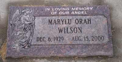 SANNES WILSON, MARYLU ORAH - Umatilla County, Oregon | MARYLU ORAH SANNES WILSON - Oregon Gravestone Photos