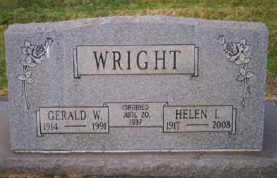 WRIGHT, HELEN L - Umatilla County, Oregon   HELEN L WRIGHT - Oregon Gravestone Photos