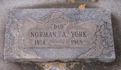 YORK, NORMAN ANDY - Umatilla County, Oregon | NORMAN ANDY YORK - Oregon Gravestone Photos