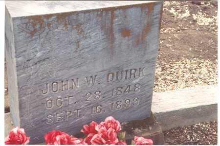 QUIRK, JOHN WILLIAM - Wasco County, Oregon | JOHN WILLIAM QUIRK - Oregon Gravestone Photos