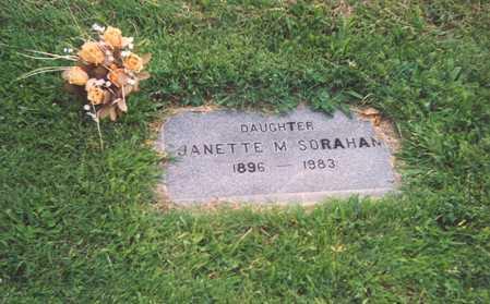 NELSON SORAHAN, JANETTE MAE - Wasco County, Oregon | JANETTE MAE NELSON SORAHAN - Oregon Gravestone Photos