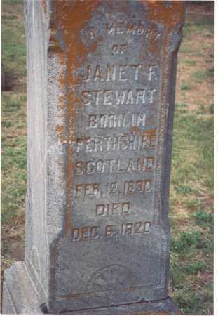STEWART, JANET FENWICK - Wasco County, Oregon   JANET FENWICK STEWART - Oregon Gravestone Photos
