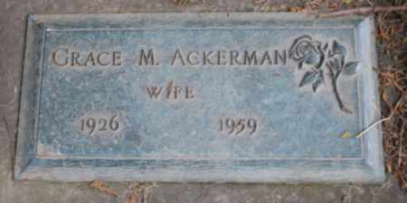 ACKERMAN, GRACE M - Washington County, Oregon | GRACE M ACKERMAN - Oregon Gravestone Photos