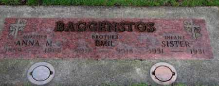 BAGGENSTOS, EMIL - Washington County, Oregon   EMIL BAGGENSTOS - Oregon Gravestone Photos