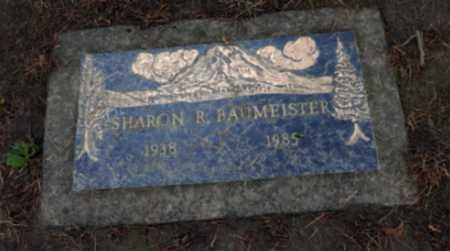 BAUMEISTER, SHARON R - Washington County, Oregon   SHARON R BAUMEISTER - Oregon Gravestone Photos