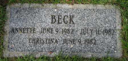 BECK, CHRISTINA - Washington County, Oregon | CHRISTINA BECK - Oregon Gravestone Photos