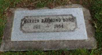 BOND, WARREN RAYMOND - Washington County, Oregon   WARREN RAYMOND BOND - Oregon Gravestone Photos