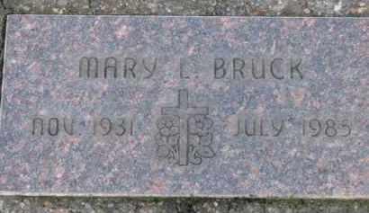 BRUCK, MARY L. - Washington County, Oregon   MARY L. BRUCK - Oregon Gravestone Photos