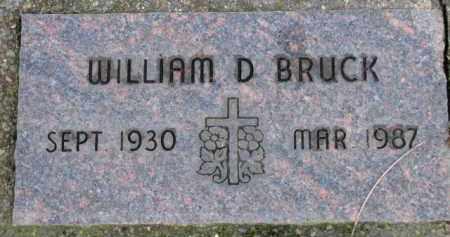 BRUCK, WILLIAM D. - Washington County, Oregon | WILLIAM D. BRUCK - Oregon Gravestone Photos